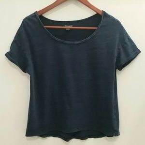 Aerie Blue Oversized Short Sleeve Top Size S P